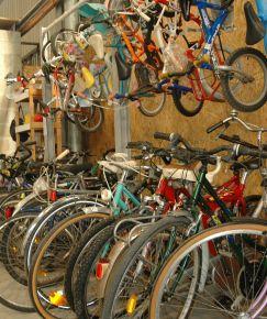 Vélos à la Boutique Calitom